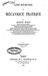 Aide-mémoire de mécanique pratique par Arthur Morin