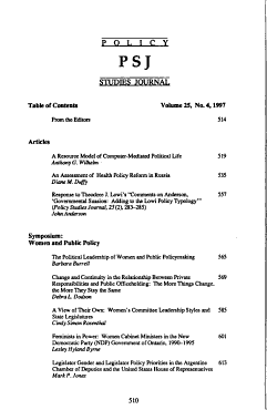Women and Public Policy PDF