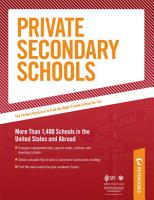 Private Secondary Schools  Traditional Day and Boarding Schools PDF