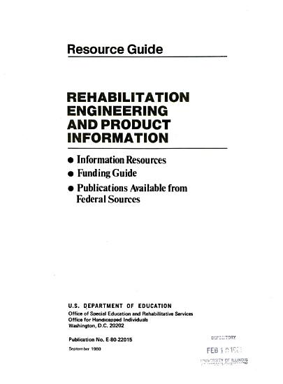 Rehabilitation engineering and product information PDF