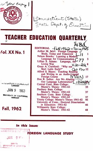 Teacher Education Quarterly PDF