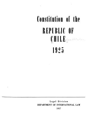 Constitution of the Republic of Chile  1925