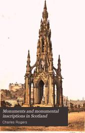 Monuments and monumental inscriptions in Scotland: Volume 3