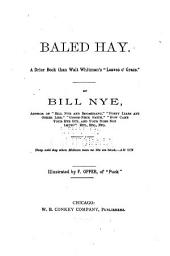 "Baled Hay: A Drier Book Than Walt Whitman's ""Leaves O' Grass."""
