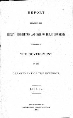 Report of the Receipt and Distribution of Public Documents on Behalf of the Government by the Department of the Interior