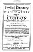 A Physical Directory Or A Translation Of The Dispensatory Made By The Colledg Of Physitians Of London