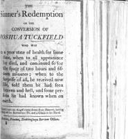 The Sinner s Redemption  Or the Conversion of Joshua Tuckfield  Etc PDF