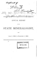 Annual Report of the State Mineralogist of California from     PDF