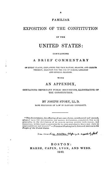 A Familiar Exposition of the Constitution of the United States PDF