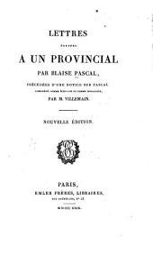 Lettres écrites a un provincial