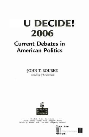 You Decide! Current Debates in American Politics