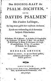 Den hoonig-raat der psalm-dichten, ofte Davids psalmen met d'andere lof-sangen: Volume 1