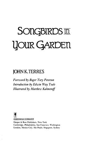 Songbirds in Your Garden