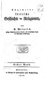 Algemeine kritische Geschichte der Religionen