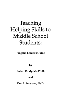 Teaching Helping Skills to Middle School Students PDF