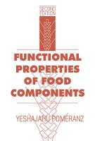 Functional Properties of Food Components PDF