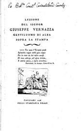 Lezione del signor Giuseppe Vernazza gentiluomo di Alba sopra la stampa