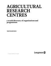 Agricultural Research Centres PDF