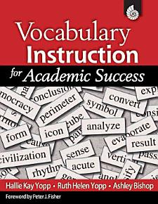 Vocabulary Instruction for Academic Success PDF
