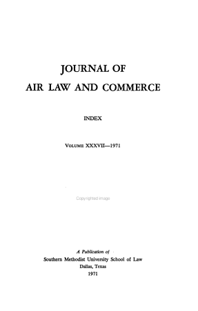 The Journal of Air Law and Commerce PDF