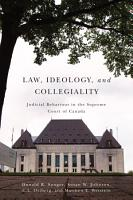 Law  Ideology  and Collegiality PDF