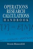 Operations Research Calculations Handbook PDF