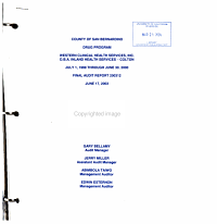 County of San Bernardino Drug Program  Western Clinical Health Services  D B A  Inland Health Services  Colton  July 1  1999 Through June 30  2000  Final Audit Report PDF