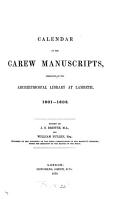 Calendar of the Carew Manuscripts  1601 1603 PDF