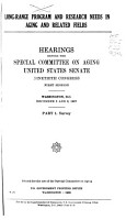 Hearings  Reports and Prints of the Senate Special Committee on Aging PDF