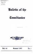 Bulletin of the Comediantes PDF