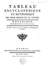 Tableau encyclopédique et méthodique des trois règnes de la nature: Botanique, Volume1