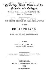 The Second Epistle of Paul the Apostle to the Corinthians: With Notes and Introduction