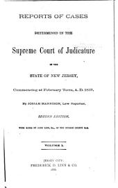Reports of Cases Determined in the Supreme Court of Judicature of the State of New Jersey: Volume 16