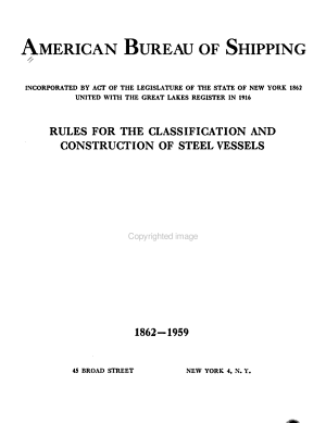 Rules for the Classification and Construction of Steel Ships PDF