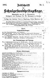 Zeitschrift für Schulgesundheitspflege: Organ des Deutschen Vereins für Schulgesundheitsplege, Band 14