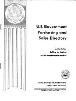 U.S. Government Purchasing, Specifications, and Sales Directory