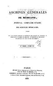 Archives générales de médecine: Volume2;Volume15