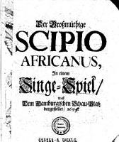 Der Grossm  thige Scipio Africanus PDF
