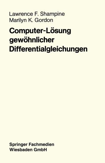 Computer L  sung gew  hnlicher Differentialgleichungen PDF