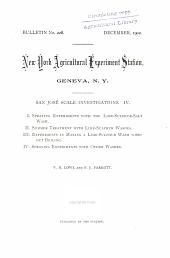 San José scale investigations, IV