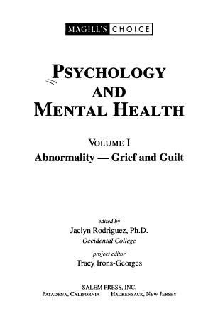 Psychology and Mental Health  Abnormality PDF