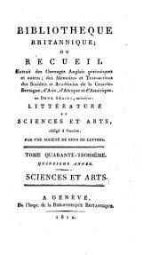 Bibliotheque britannique, ou recueil extrait des ouvrages anglais périodiques et autres..: Sciences et arts, Volume50