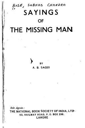 Sayings of the Missing Man