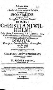Solennia vota pro incolumitate aquilae Schwarzburgicae suscepta, ex Ps. 103,5 ...