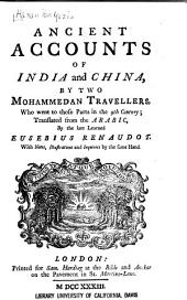 Ancient Accounts of India and China
