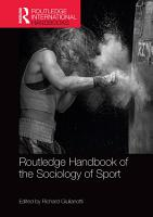 Routledge Handbook of the Sociology of Sport PDF
