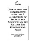 A Directory of Sources and Resources on the Vietnam Era Underground Press PDF