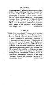 Memoirs of the Life and Writings of the Rev. Claudius Buchanan, D.D. Late Vice-prost of the College of Fort William in Bengal: Volume 2