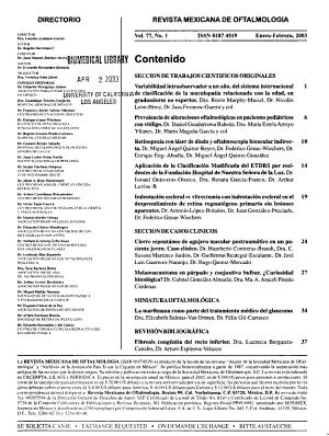 Revista Mexicana De Oftalmologia