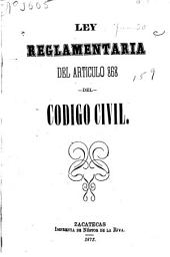 Ley reglamentaria del articulo 868 del código civil